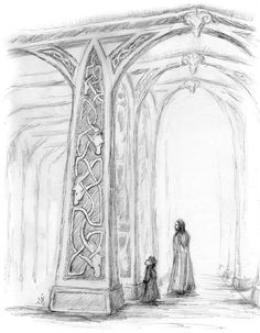 'The Halls of Meduseld (Merry & Aragorn)' by Jef Murray