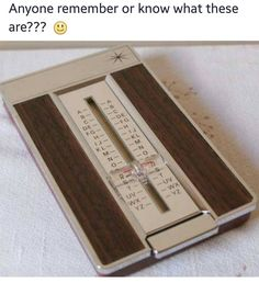 Who remembers?