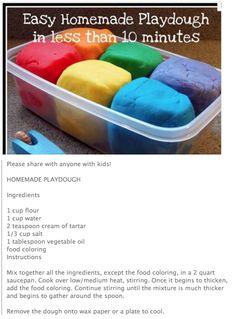 Play Doe recipe