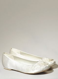 2f838c507cb These elegant lace trimmed ballet pumps have cushioned insoles that use memory  foam technology to make