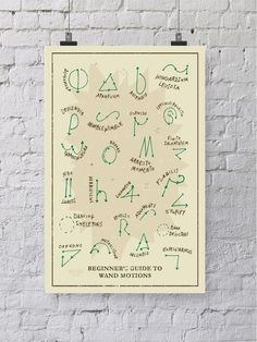 This poster of wand movements in Slytherin colors so they can keep a leg up on the other Houses. | 35 Perfectly Cunning Gifts For Slytherins