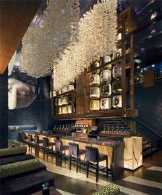 Remind us of the hanging feathers in BOND...Nobu Restaurant, New York by David Rockwell
