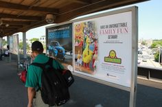 The kiddies will love meeting their favorite furry friends! Check out this Sesame Place poster on the platforms of the Long Island Railroad and Metro North transit lines.
