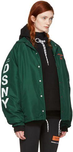 Heron Preston - Green DSNY Edition Coach Jacket