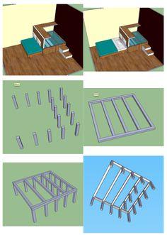 pour un gain de place estrade de lit astuces pinterest tiroir construction et lits. Black Bedroom Furniture Sets. Home Design Ideas