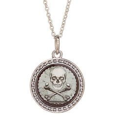 Look what I found on #zulily! Vintage Skull Pendant Necklace by Spirit Lala #zulilyfinds