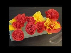 This tutorial shows how to make different kinds of beatiful crepe paper flowers. Simple, quick and pretty home made flowers Music from :Music4YourVids.co.uk