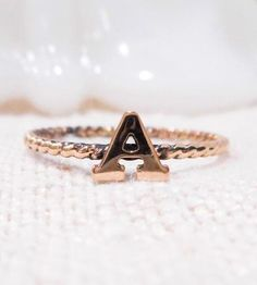 Custom Gold Initial Ring