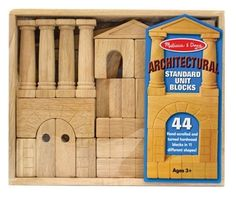 Melissa and Doug Architectural Standard Unit Blocks - About Melissa & Doug Toys Since Melissa & Doug have grown into a beloved children's product company. Wooden Storage Crates, Crate Storage, Toy Storage, Kitchen Storage, Toddler Toys, Kids Toys, Toddler Stuff, Children's Toys, Box Architecture