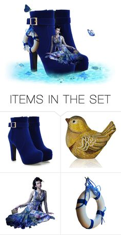 """Cool Blue."" by cardigurl ❤ liked on Polyvore featuring art"