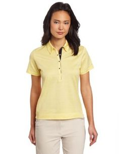 Sport Haley Women's Short Sleeve Textured Jacquard Polo Shirt by Sport Haley. $74.00. Elongated, Snap Placket. Contrast Placket and Neck Seam Details. Stretch Cotton and Polyester Textured Jacquard. 85% cotton 15% polyester. Knit Self Collar. Tonal Zig-Zag Pattern. The tonal zig-zag design in this polo gives this solid shirt a little bit of kick; perfect for the woman who likes a solid shirt with a little something extra.  Modern snap placket with a matching knit...