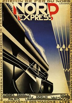 Nord Express by A.M. Cassandre, 1927 #radii #perspective #diagonal #composition