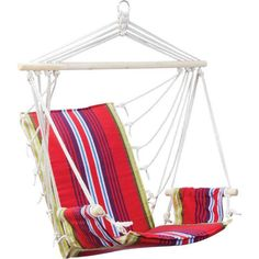 Club Fun Cushioned Hanging Rope Chair with Arm Rests Holds 265 lbs - cheapbuynsave.com