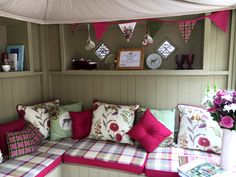 Help us design the perfect She Shed for you. Luxury She Sheds for the discerning woman. She Shed Interior Ideas, She Shed Decorating Ideas, Corner Summer House, Summer House Garden, Summer Houses, Summer Sheds, Allotment Shed, Summer House Interiors, Craft Shed