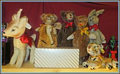 Bambie, Hand Puppets and Tiger by Character Novelty Co Character Brown Bear, Sleepy Monkey