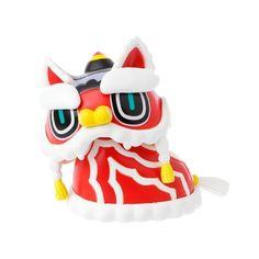 Cute Chinese Lion Toys Kids Doll Animals Cartoon Figures Pendant Car Ornament   eBay