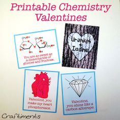 Free Printable Chemistry Valentines + a List of Chemistry Love Puns