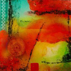 Peinture abstraite moderne acrylique sur par LucBenoitFineArt