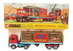 "Mettoy Corgi Toys No.1139 ""Chipperfields Circus"" Scammell Handyman Menagerie 1968-72"