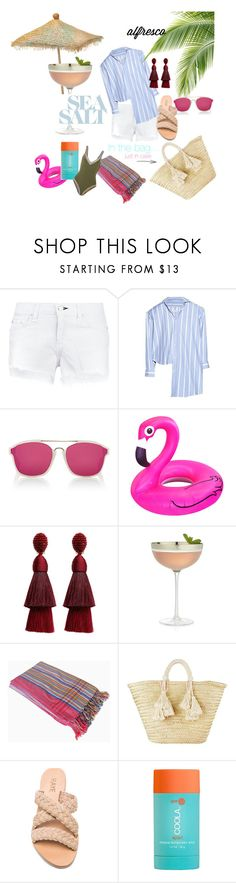 Sunday Brunch by themaximista on Polyvore featuring Vetements, kiini, rag & bone/JEAN, Giselle, Oscar de la Renta, Christian Dior, COOLA Suncare, Crate and Barrel, brunchlook and themaximista