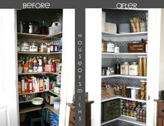 Pantry Makeover  Good ideas and guidelines for how to organize a pantry. Can definitely take some tips from here