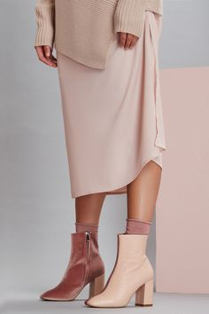 Jaggar The Label Ankle & Booties Square Toe Leather Block Heels Elegant Style 2 Ankle Booties, Block Heels, Heeled Mules, Booty, Fancy, Elegant, Leather, Label, Toe