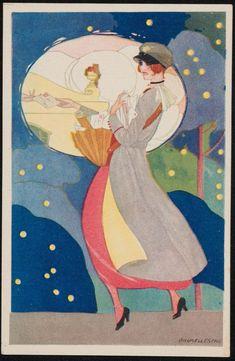 Delivering the mailItalianPublisher Umberto Brunelleschi (Italian (active in Paris), Publisher G. Ricordi & Co. Magazine Illustration, Illustration Art, Paper Quilt, Inspiration Art, Art Deco Posters, Naive Art, Italian Artist, Art Deco Design, Vintage Art