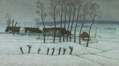 The Athenaeum - Neige à Berchem-Sainte-Agathe (Snow at Berchem-Sainte-Agathe) (William Degouve de Nuncques - )