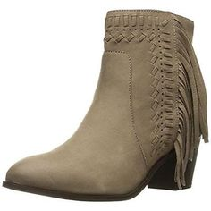 #Shoes #Apparel Mia 2442 Womens Elina Taupe Nubuck Heels Ankle Boots Shoes 8 Medium (B,M) BHFO #Christmas #Gifts