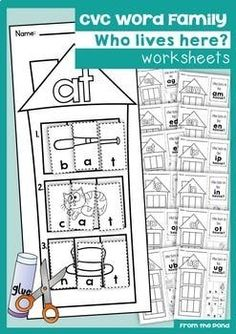 IT Word Family Match Picture with Word | Word Family Worksheets ...