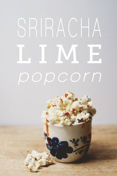 Sriracha Lime Popcorn #chinesenewyear