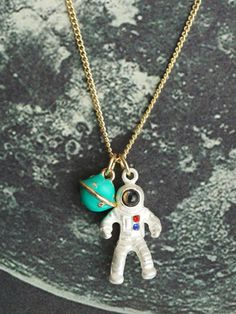 Multicolor Astronaut Pendant Necklace from Augustine's. Saved to Jewelries. Shop more products from Augustine's on Wanelo.