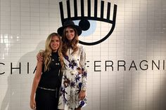 Giorgia Marin and Chiara Ferragni at the presentation of the new Chiara Ferragni shoes collection during the Milan Fashion Week, on September 27, 2015 in Milan, Italy.