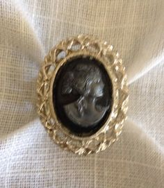 Adjustable Costume Cameo Ring Upcycled Repurposed by heartsoftoday, $20.00