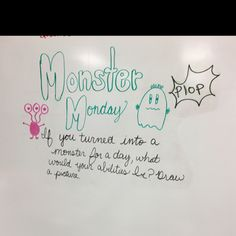 Whiteboard Monday message