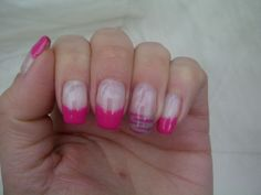 Pink and beige tips