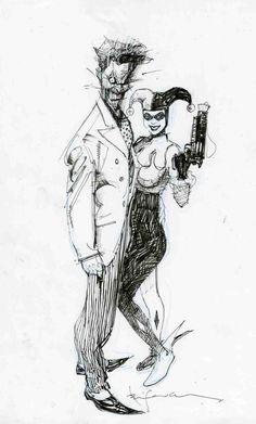 The Joker & Harley Quinn by Bill Sienkiewicz