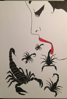 Paint / women / scorpion