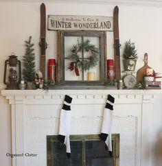 +Winter+Wonderland:++Christmas+Mantel+2015+via+OrganizedClutter.net