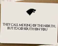 Handmade Funny Game of thrones Valentines Day Card by SpicyCards