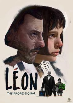 """Léon""-Fanart-Poster, Marcel Domke on ArtStation at http://www.artstation.com/artwork/leon-fanart-poster"