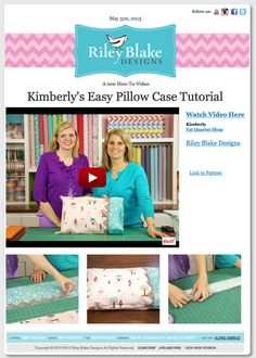 Prairie point pillow case ~ Riley Blake Designs Blog
