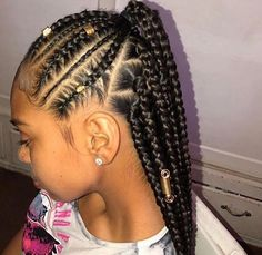 53 Box Braids Hairstyles That Rock - Hairstyles Trends Black Girl Braided Hairstyles, Girls Natural Hairstyles, African Braids Hairstyles, Little Girl Hairstyles, Nice Hairstyles, Hairstyles For Black Kids, Hairstyles Pictures, Beautiful Hairstyles, Protective Hairstyles