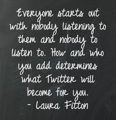 Great Social Media #Quote from Laura Fitton.
