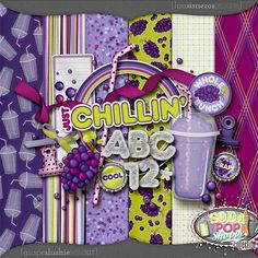 Grape Slushie Mini Kit by Lisa Sisneros Designs....i love the idea behind this kit (and the collection) though my favorite slushee is CHERRY!!!!!