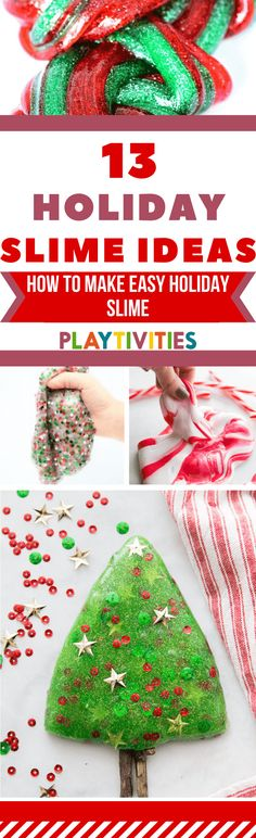 14 Surprising Christmas Slime Recipes For Kids – PLAYTIVITIES Fluffy slime recipes, Christmas tree slime ideas, glitter slimes and many … Christmas Activities For Families, Christmas Activities For Kids, Craft Activities For Kids, Kids Christmas, Family Activities, Family Games, Homemade Christmas, Kids Crafts, Xmas