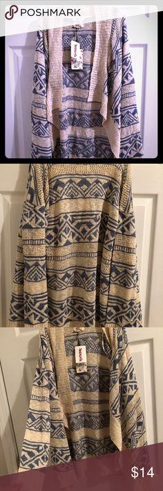 I just added this listing on Poshmark: NWT Hippie Rose blue/cream cardigan!. #shopmycloset #poshmark #fashion #shopping #style #forsale #Hippie Rose #Sweaters