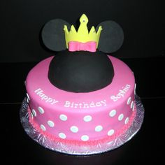 crown princess minnie mouse birthday cakes pictures images collection