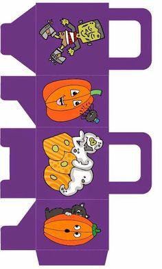 Monstruos: Bolsa de Papel para Imprimir Gratis. | Ideas y material gratis para fiestas y celebraciones Oh My Fiesta!
