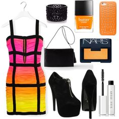 RAINBOW LOVE♡ by jeanettejeanette on Polyvore featuring polyvore fashion style Balmain Building Block Oasis Tory Burch Bobbi Brown Cosmetics NARS Cosmetics Butter London